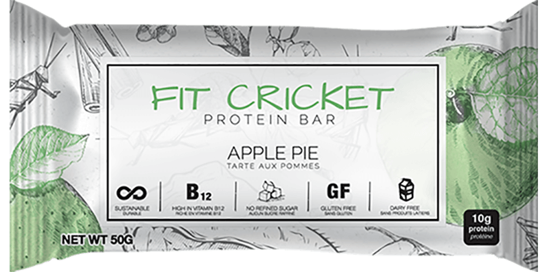 Fit Cricket Apple Pie Protein Bar