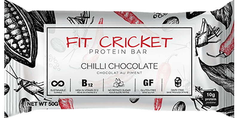 Fit Cricket Chili Chocolate Protein Bar