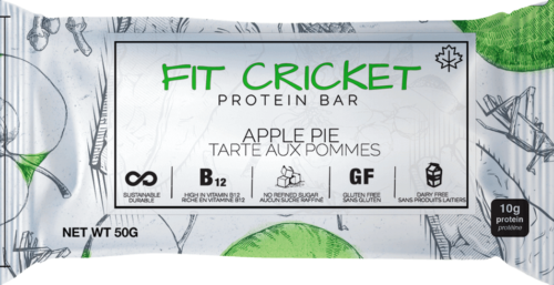 Fit Cricket cricket protein bar, apple pie