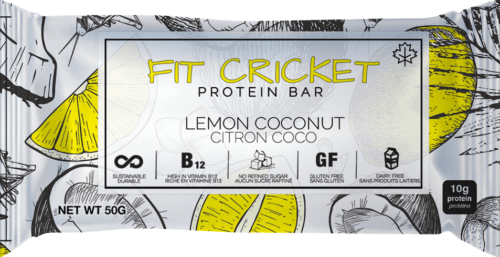 Fit Cricket cricket protein bar, lemon coconut